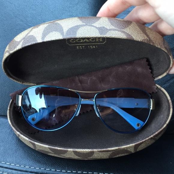 fa0c7b56a3 ... new arrivals coach charity blue gold aviator sunglasses 93fb1 ba277